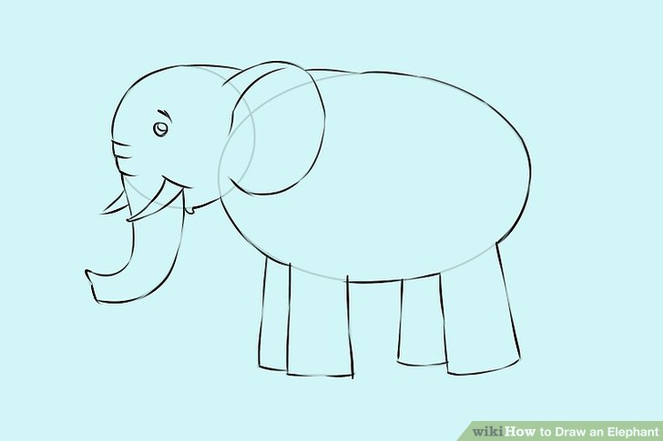 728x485 4 Ways To Draw An Elephant