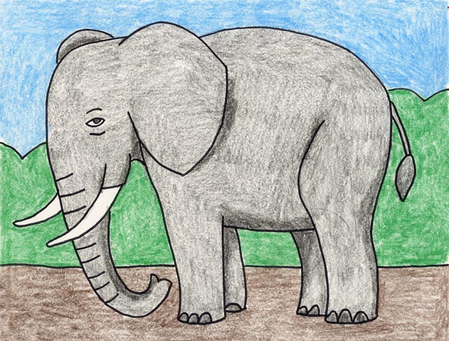 650x494 Draw an Elephant
