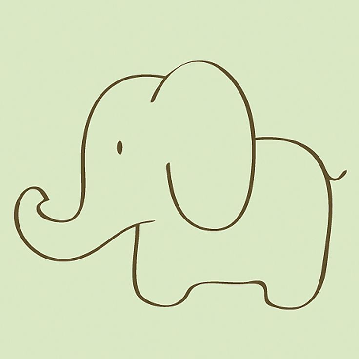 736x736 Easy Elephant Drawing Things To Draw Easy Elephant
