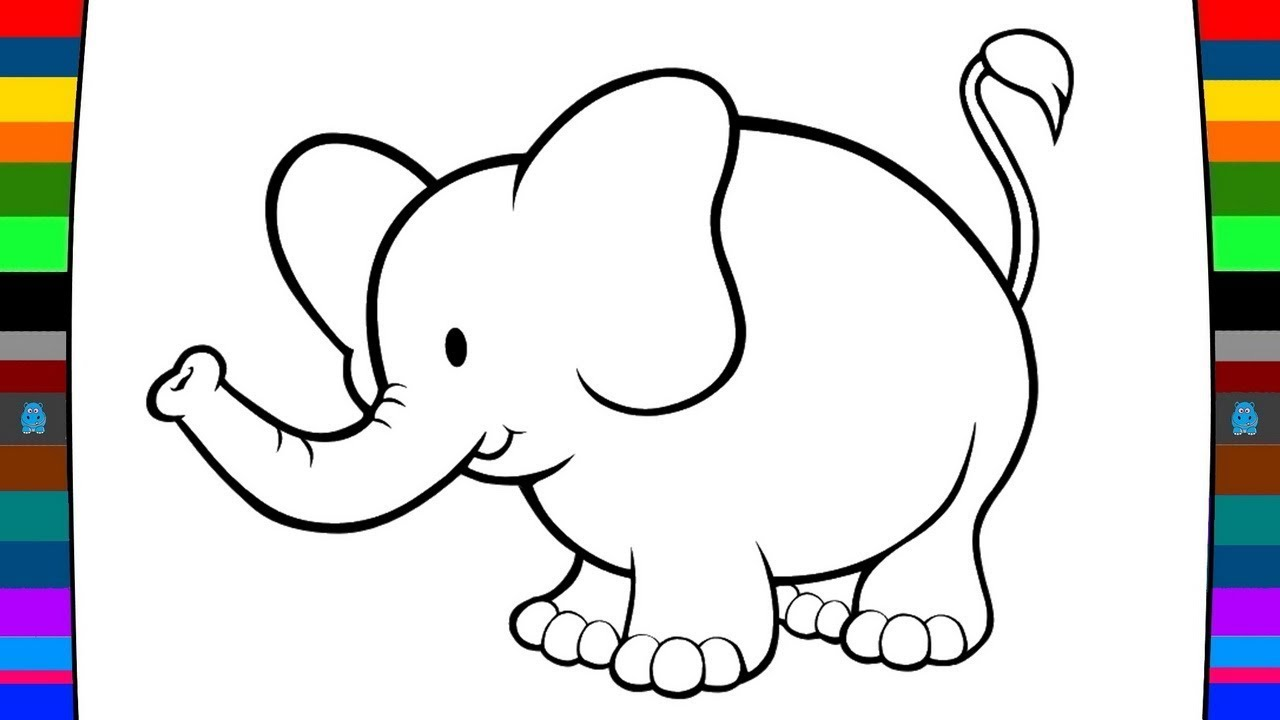 Elephant Drawing For Kids At Getdrawings Free Download