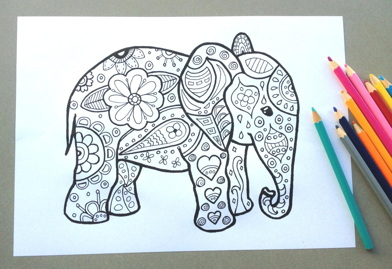 Elephant Drawing Pages at GetDrawings.com | Free for personal use ...