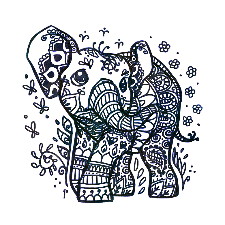 Elephant Drawing Tribal At Getdrawings Com Free For Personal Use