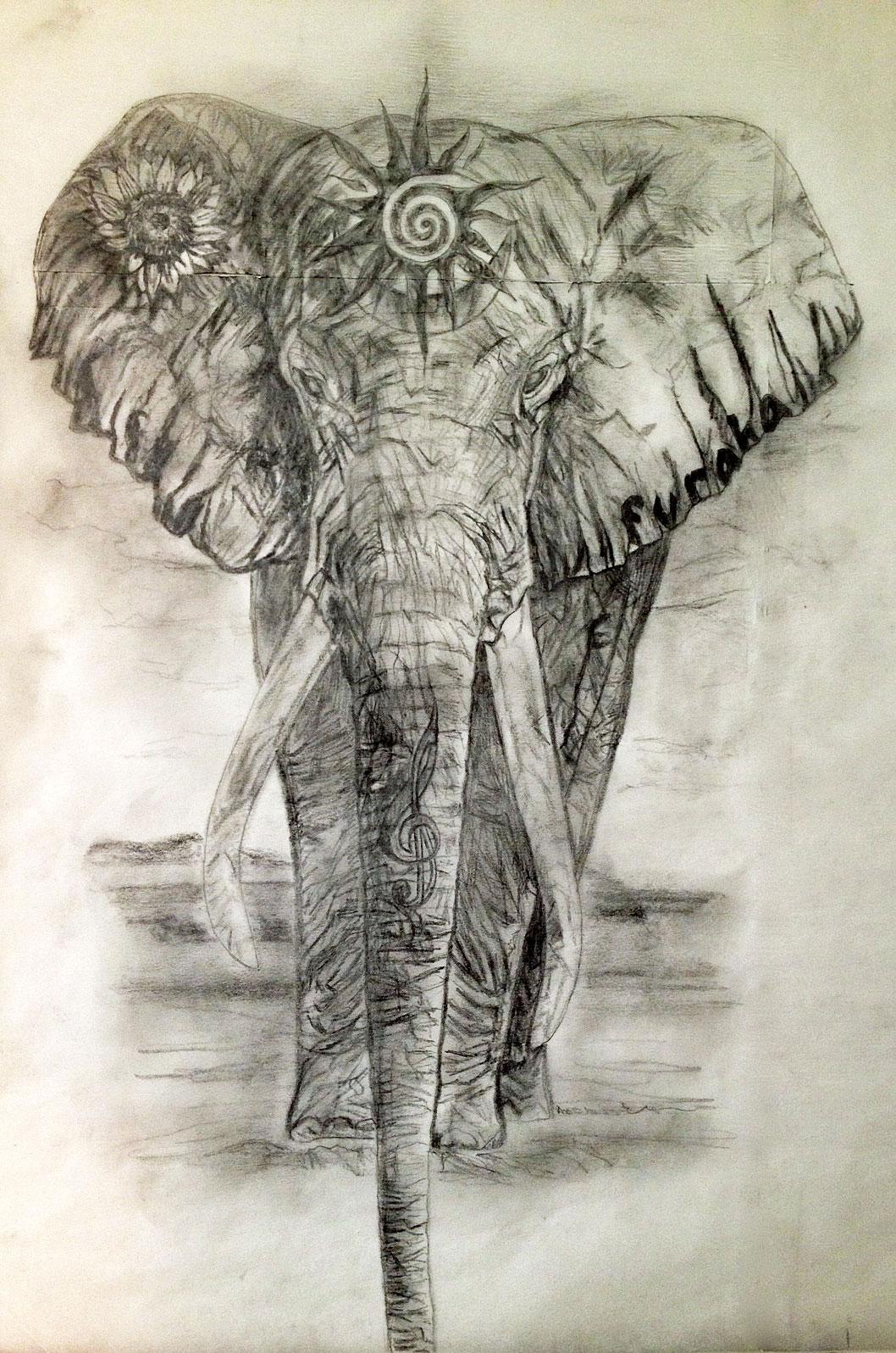 1058x1596 Sacred Elephant Tattoo Design For The Heart Chakra Tania Marie'S