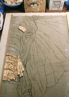 229x320 Behind The Elephant's Eye A Mosaic By Sandra Groeneveld Mosaic