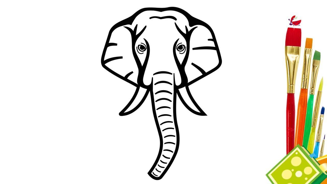 1280x720 Drawing Of An Elephant Head