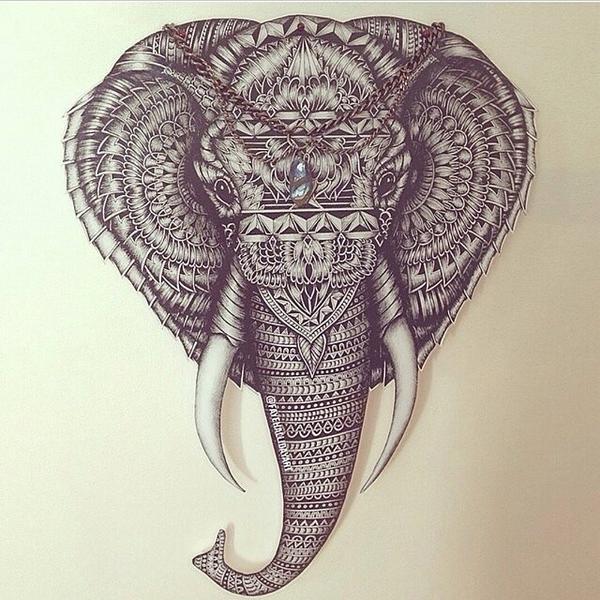 600x600 Skip On Twitter Elephant Head
