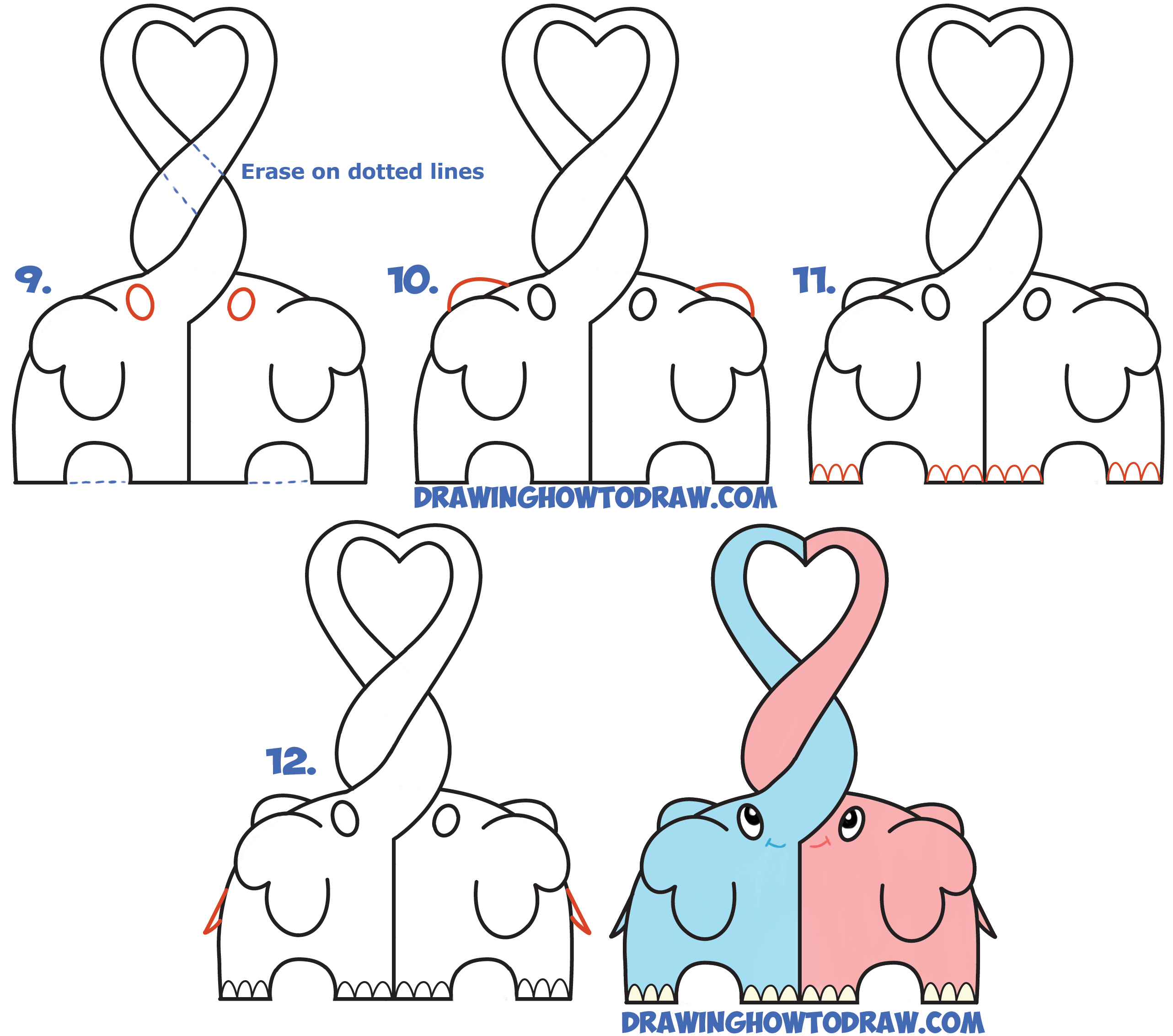 How to draw an elephant: the steps of building a picture and giving it a volume 59