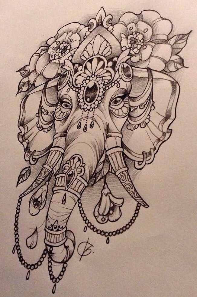 Elephant Tattoo Drawing At Getdrawingscom Free For Personal Use