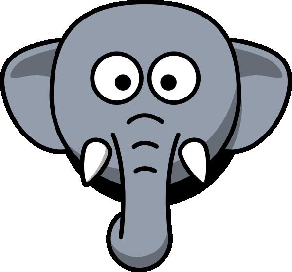 600x558 elephant head clip art
