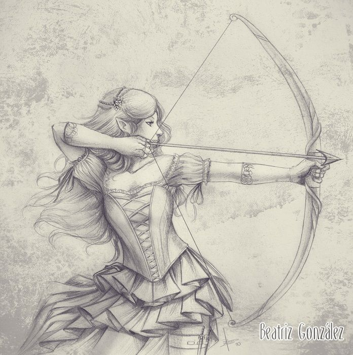 696x700 A Female Elf Warrior (I Do Not Know Who Drew This) Artistic