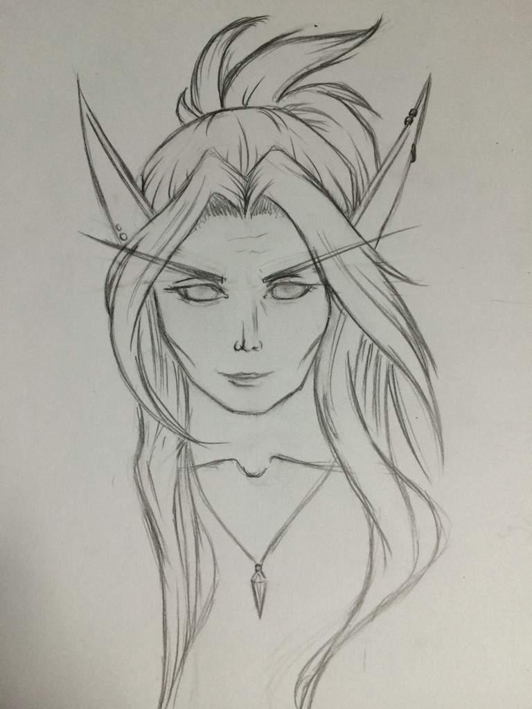 768x1024 Blood Elf Male Drawing! Wow Amino