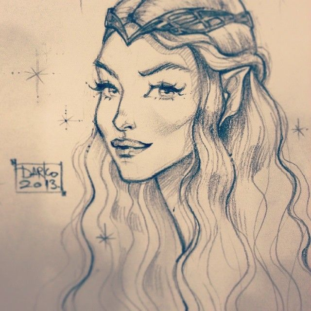 640x640 Elf Drawing Images Drawing Look Beautiful.dolls