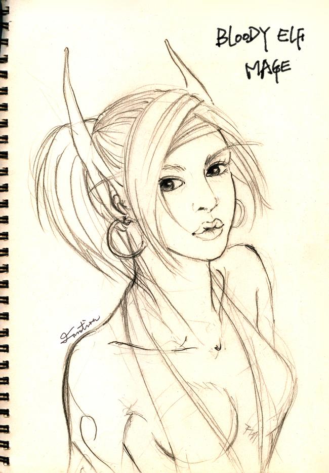 650x933 Elf Drawings Wow Blood Elf Drawing Imotionwang 650 X 933 635 Kb