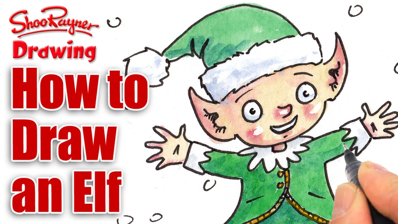 1280x720 How To Draw A Christmas Elf