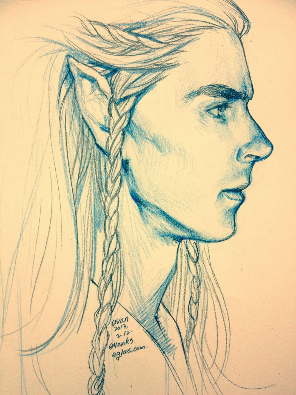 1080x1440 I Tried To Draw Benedict Cumberbatch As An Elf (Maeglin). Sf