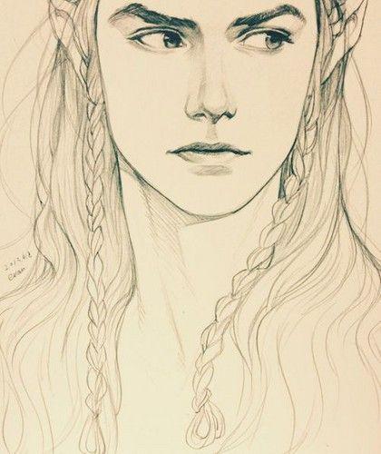 420x500 Elf Portrait By Serenaverdeart On Art
