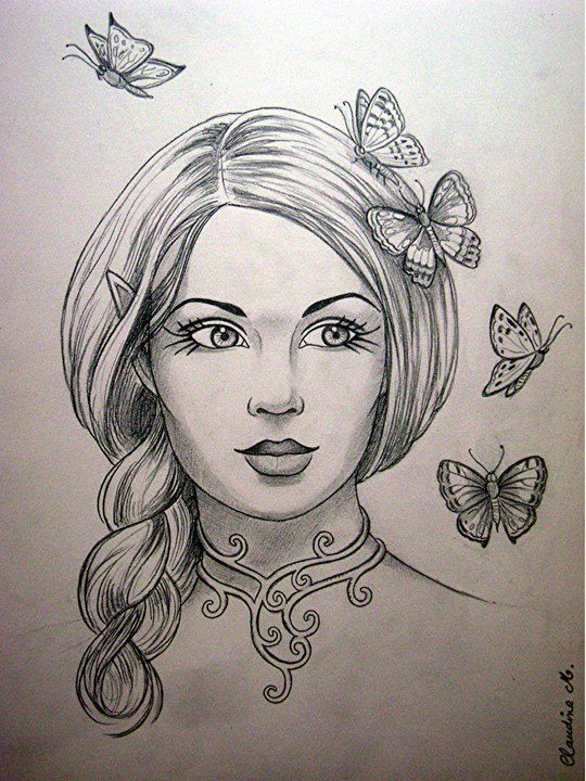 540x720 A Girl Face Draw
