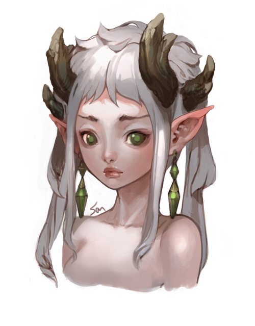 500x639 Elf Face By Nawol