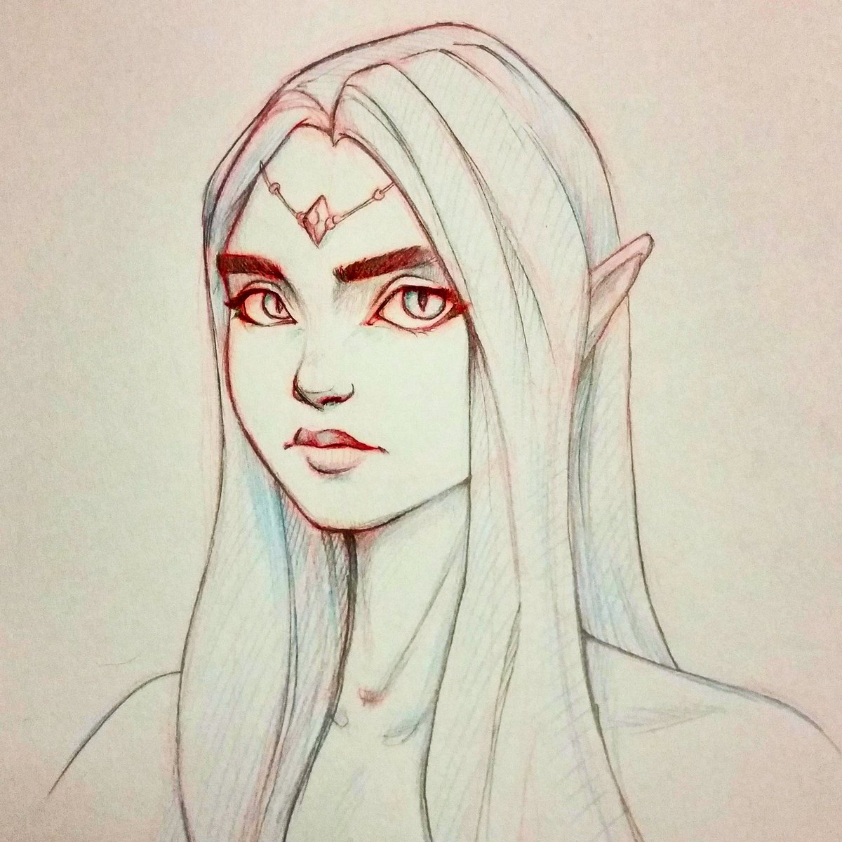 elf girl drawing at getdrawings com free for personal use elf girl