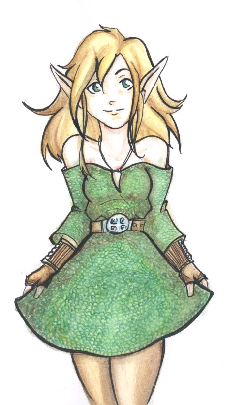 500x824 Elf Girl Colored By Lilithluthien