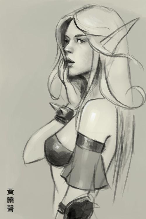 500x750 How To Draw Blood Elf