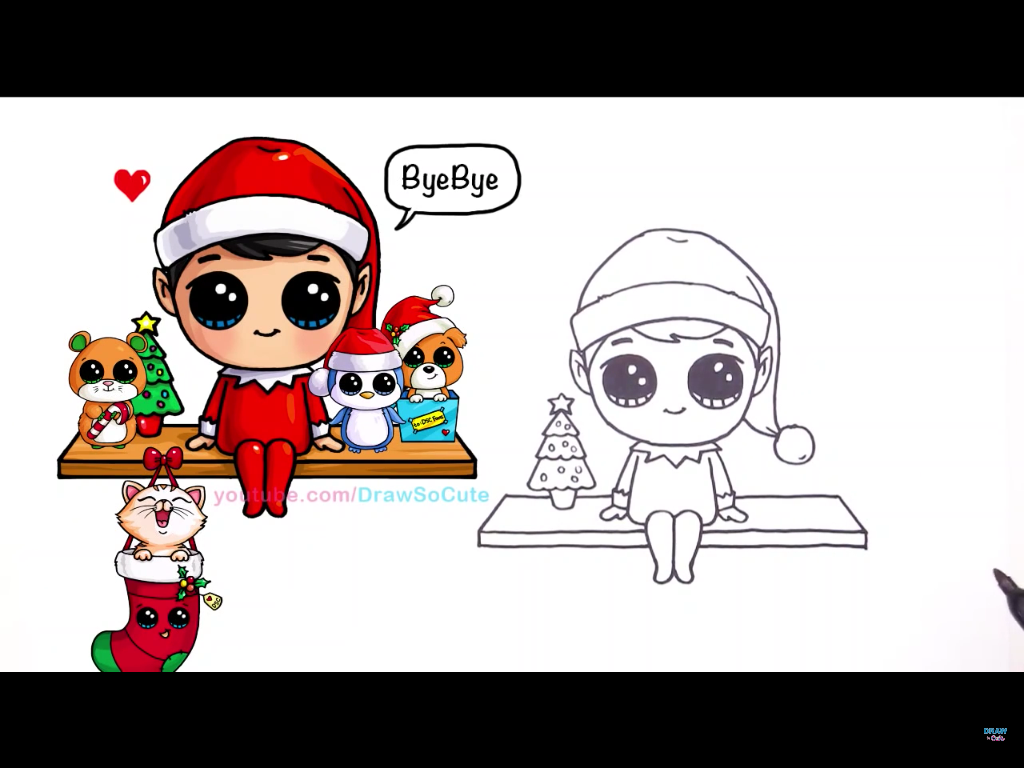 1024x768 Elf On The Shelf How To Draw Me Elves