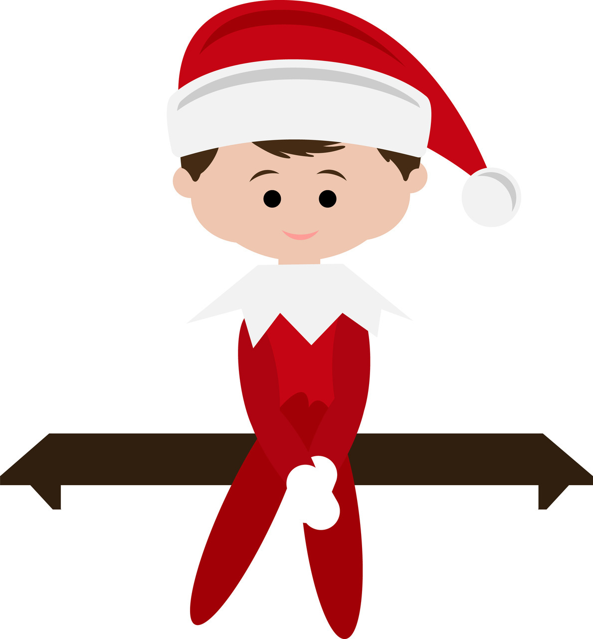 1189x1280 Elf On The Shelf Clipart Black And White