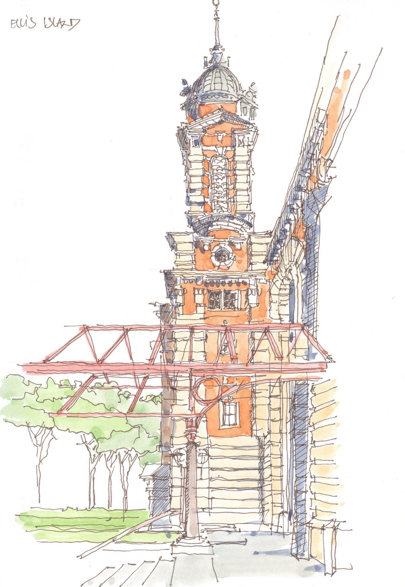 1414x2048 Ellis Island, Ny, Usa Ny Usa, Sketches And Drawings