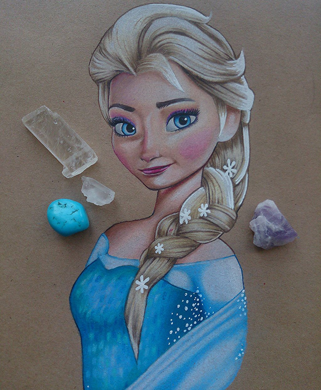 1024x1246 Elsa, Colour Pencil Drawing By Charizart
