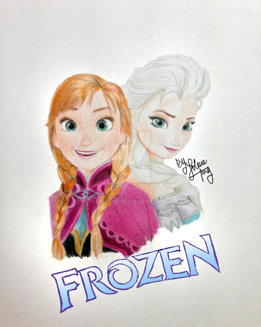 1024x1282 Frozen Princess Anna And Queen Elsa By Ijolene