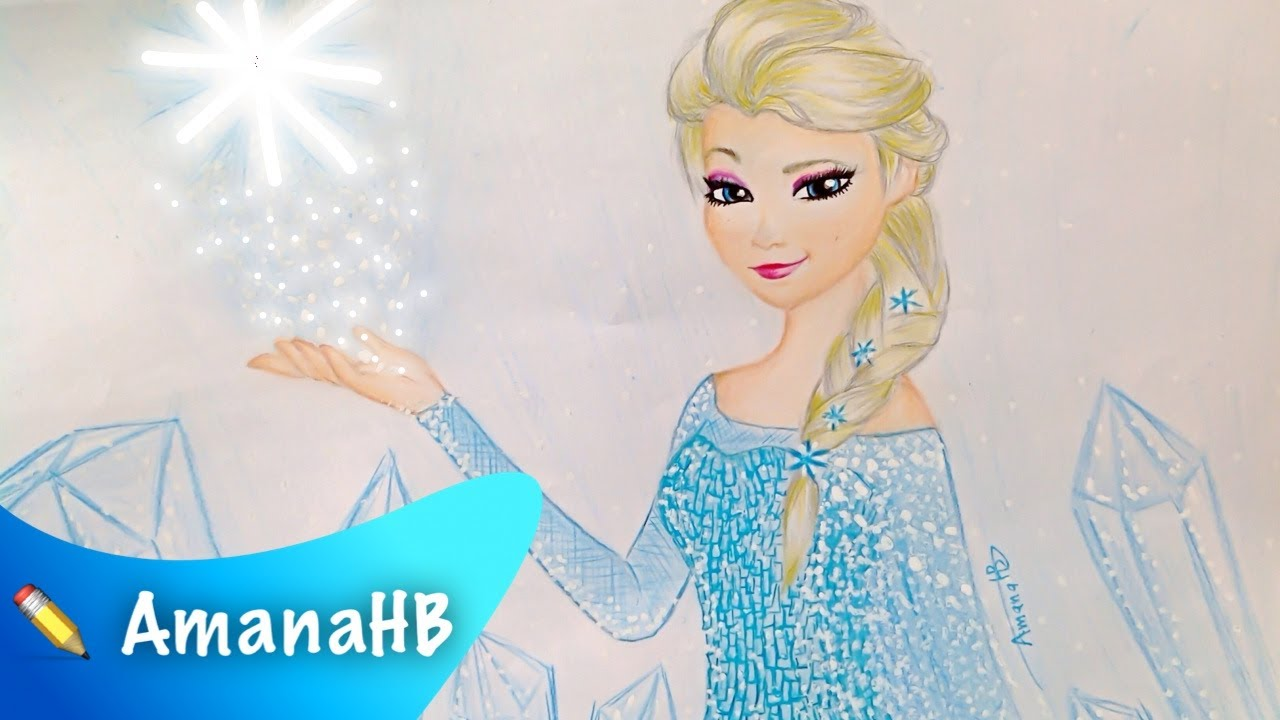 1280x720 Speed Drawing Of Elsa From Frozen
