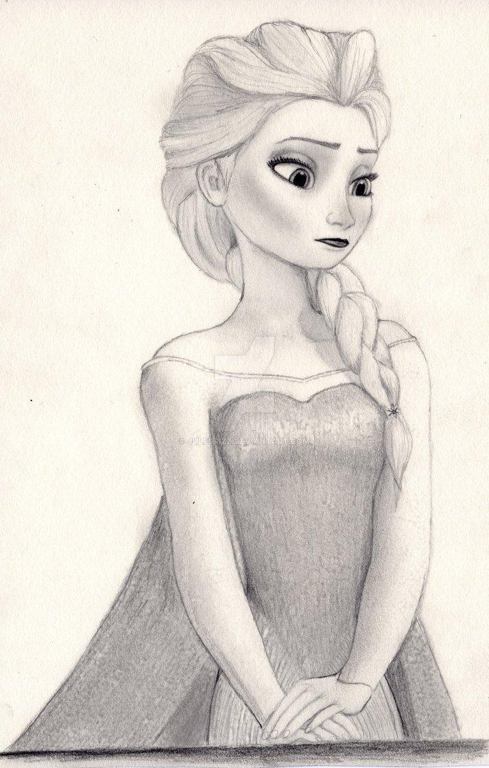 Elsa Pencil Drawing At Getdrawings Com Free For Personal Use Elsa