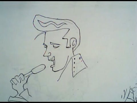 480x360 How To Draw Elvis Presley (Line Drawing)