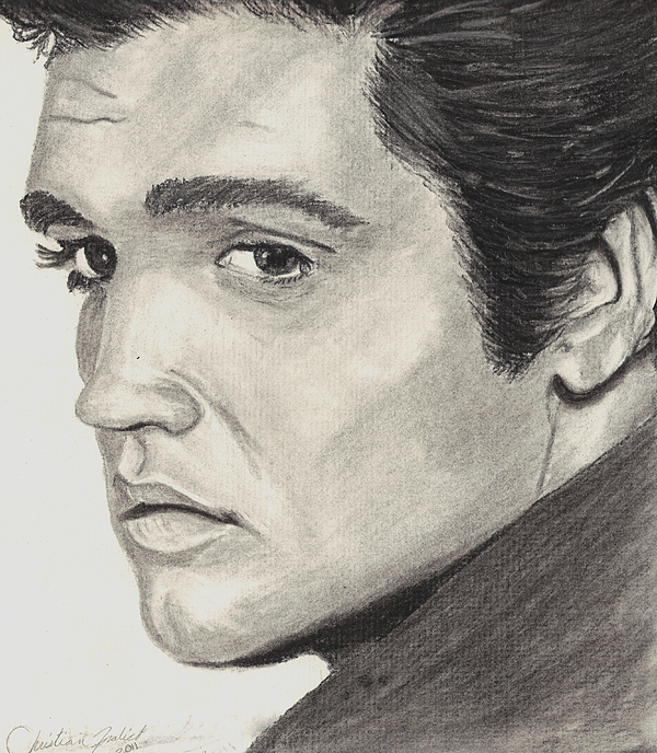 600x688 Elvis Presley Drawing By Christian Fralick
