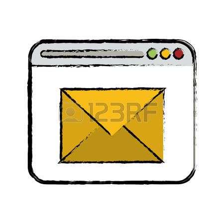 450x450 Drawing Pink And Green Email Envelope Message Love Vector