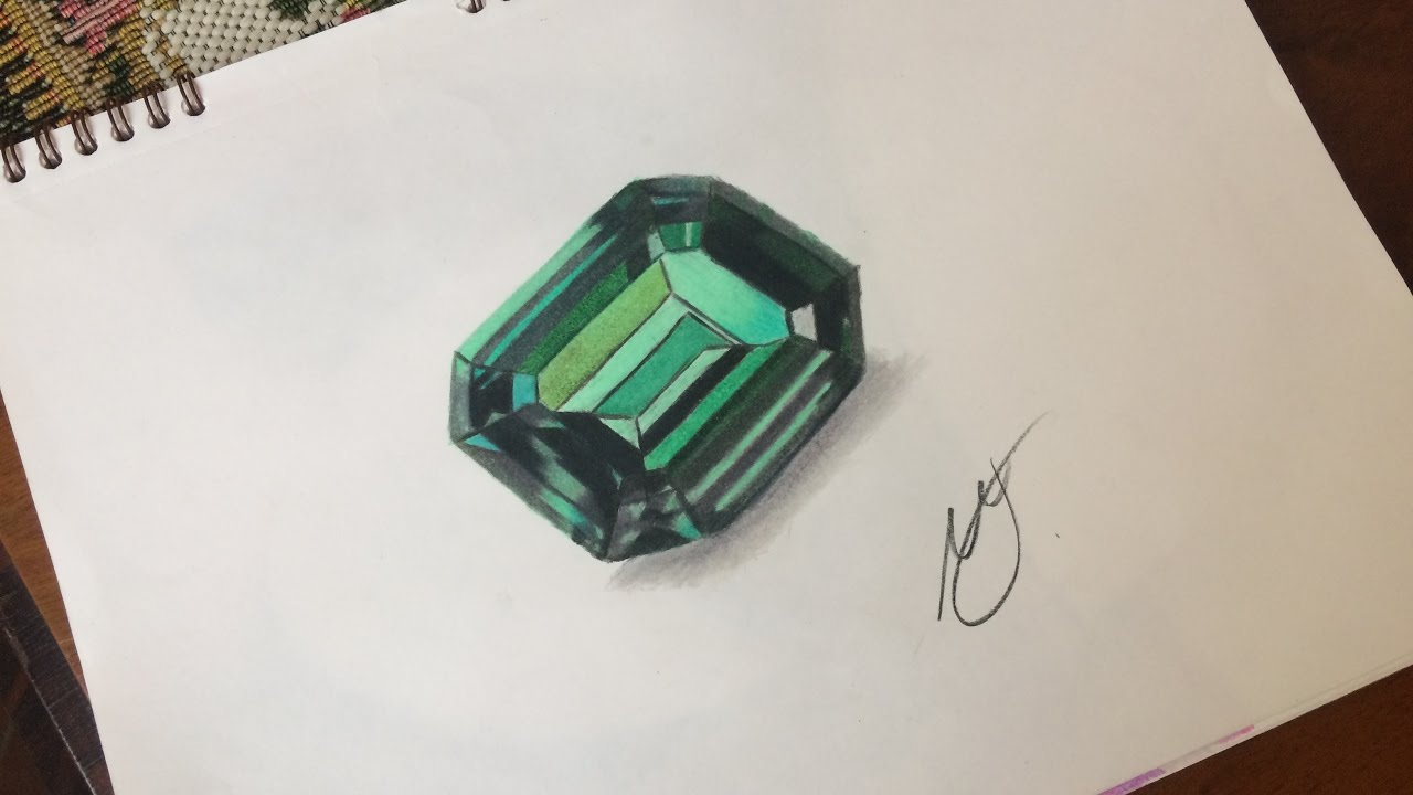 1280x720 Drawing Green Emerald
