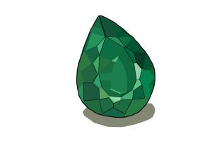 300x200 How To Draw An Emerald