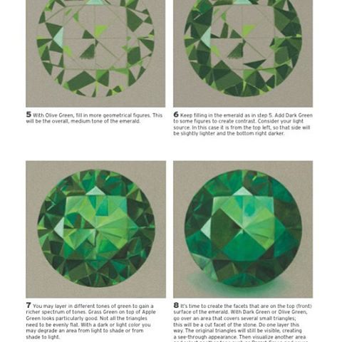 480x480 How To Draw An Emerald. From My New Book Simple Techniques