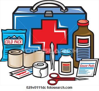 350x321 Emergency Kit Clipart