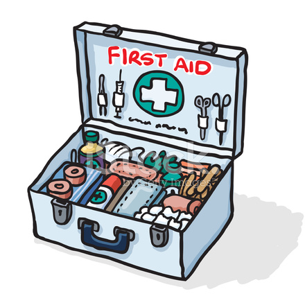 440x440 First Aid Kit Sketch Stock Vector