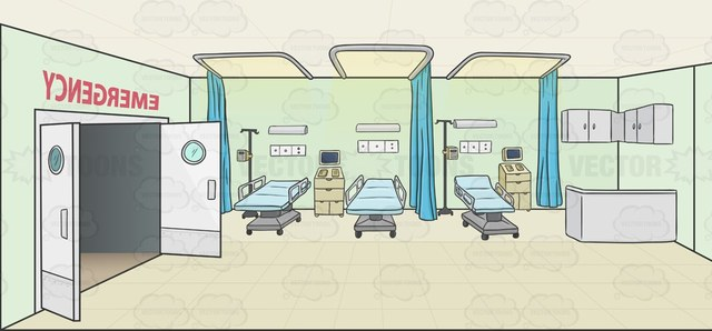 640x298 Hospital Emergency Room Background Cartoon Clipart