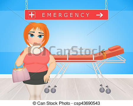 450x359 Illustration Of Girl In The Emergency Room Drawing
