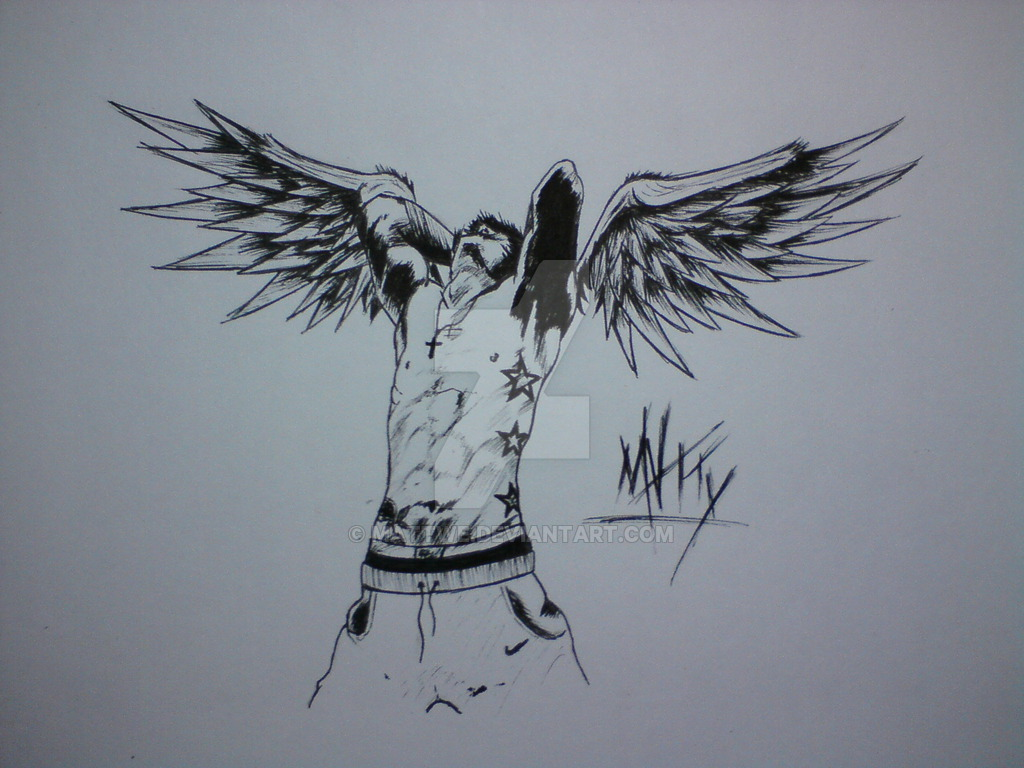 1024x768 Emo Angel, Anger Matty By Mattwe