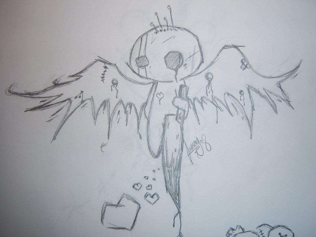 1024x768 Emo Angel By Snapnroll