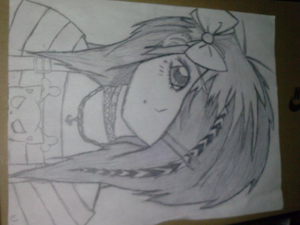 1024x768 Emosecne Anime Girl By Bloodyhedgehogs1