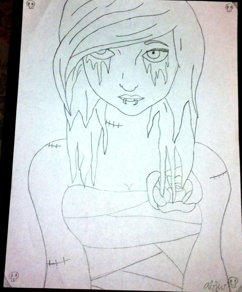 798x960 Emoscene Girl By Shylyn Drawing Queen