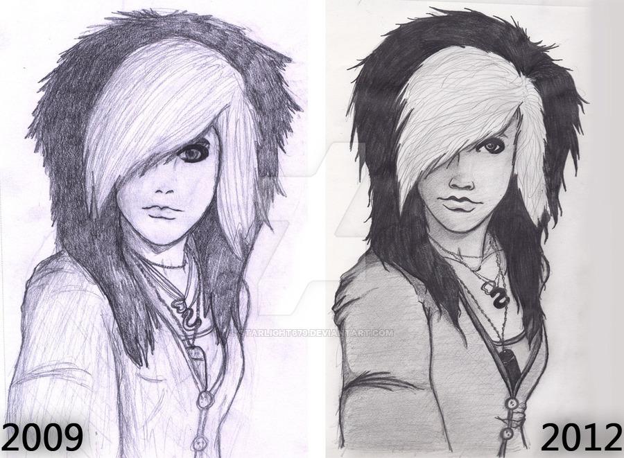 900x661 Emo Girl Sketch Improvement By Starlight679