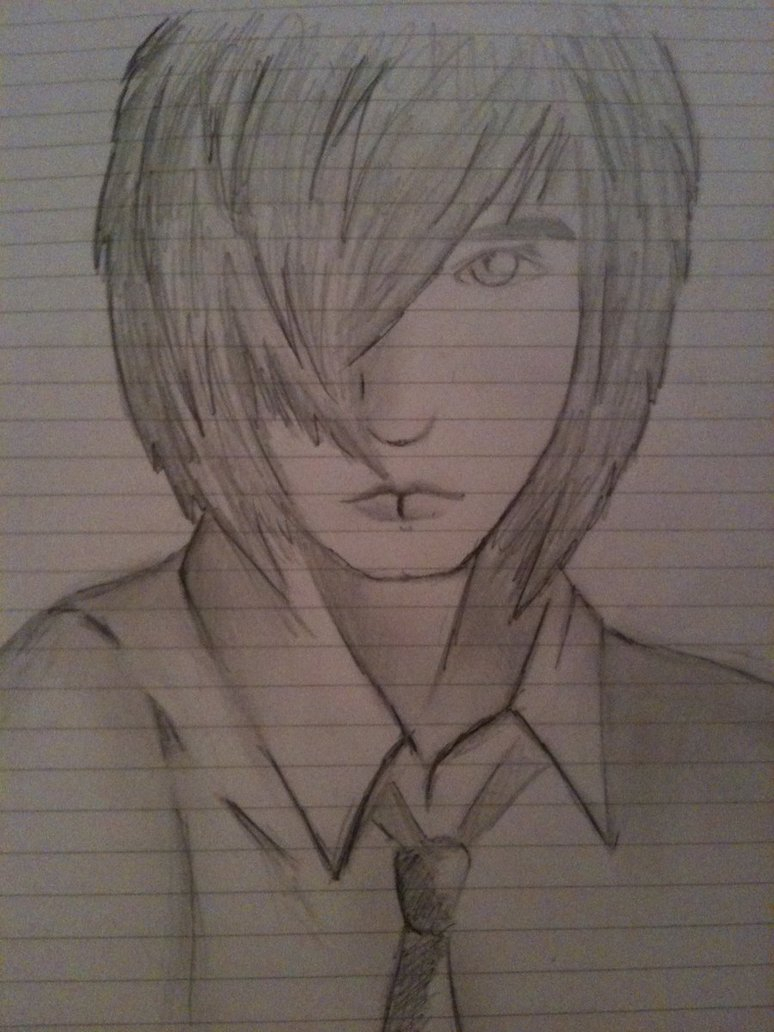 774x1032 Pencil Drawing Emo Boy Emo Guy Stencil 2 Drawing