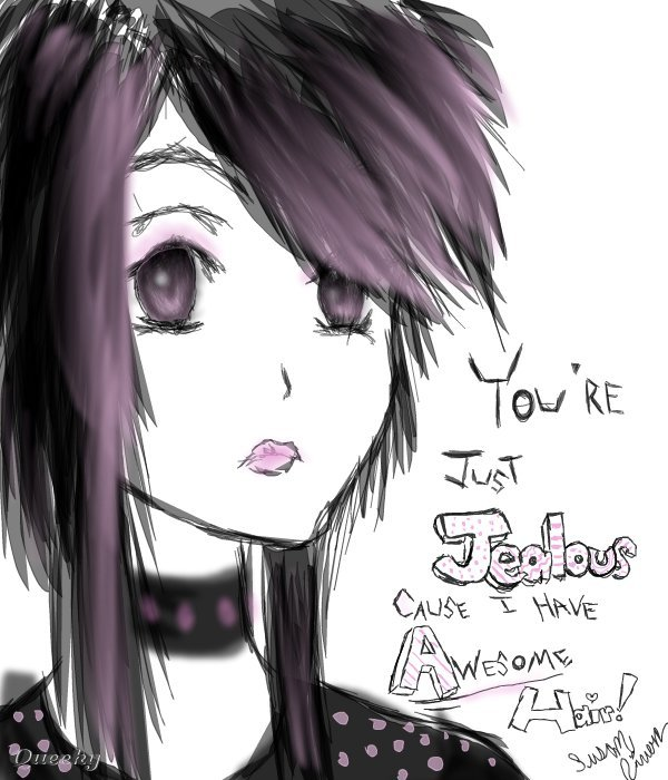 Emo hair drawing at getdrawings free for personal use emo hair 600x700 my awesome emo hair an anime speedpaint drawing by artfreaksue voltagebd Choice Image