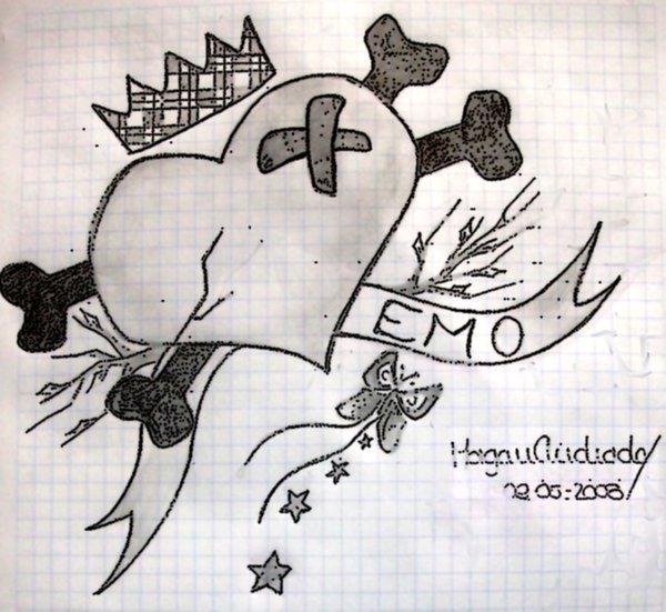 600x551 Emo Heart Drawings Emo Heart By Arielrose Emo